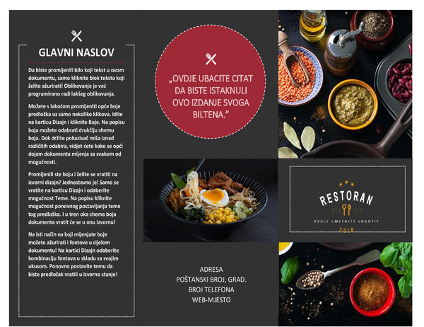Brošura o restoranu