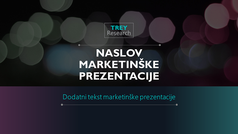 Futuristička marketinška prezentacija