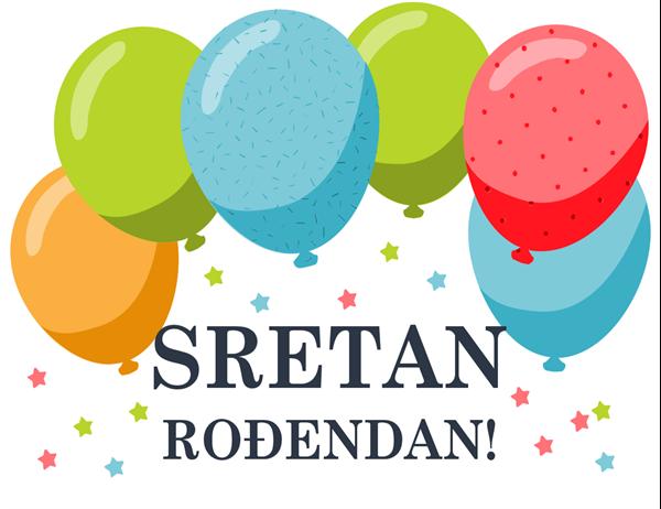 Rođendanska čestitka s balonima