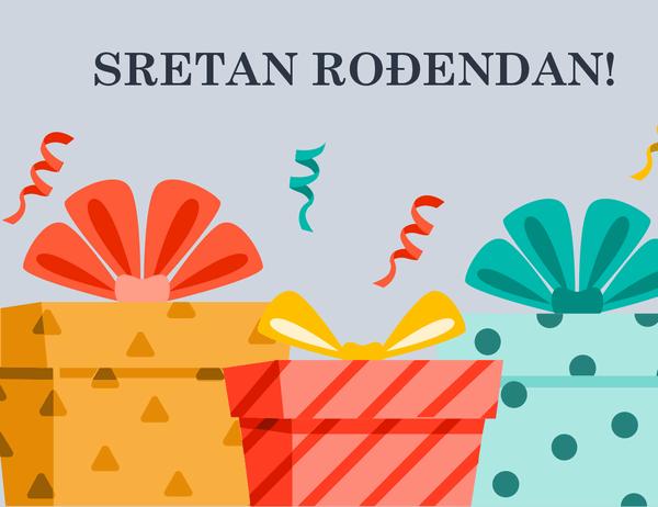 Rođendanska čestitka s veselim darovima