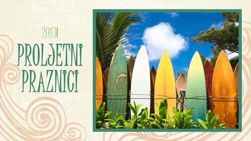 Fotoalbum za ljetne praznike (motiv plaže, za široki zaslon)