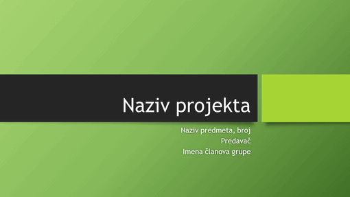 Prezentacija grupnog projekta (berlinske teme, široki zaslon)