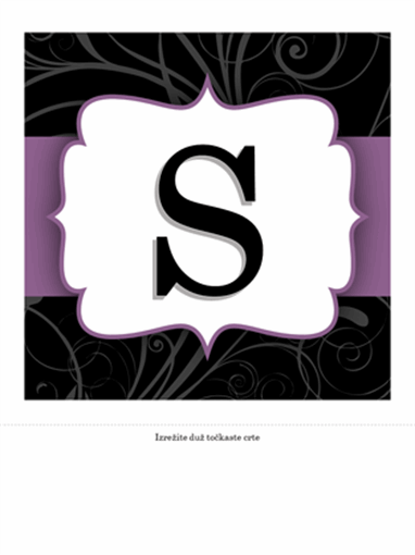 Natpis povodom godišnjice (dizajn s ljubičastom vrpcom)