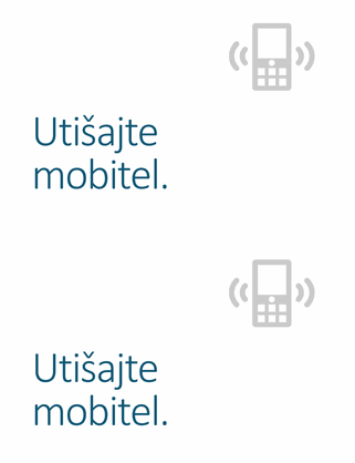 Poster za podsjetnik na isključivanje mobitela