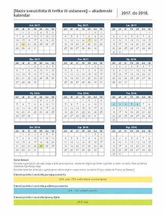 Kalendar za akademsku godinu 2017./2018.