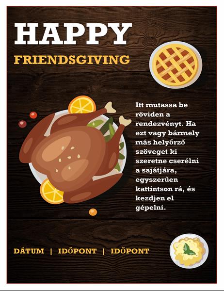 Friendsgiving (Hálaadás barátokkal) szórólap