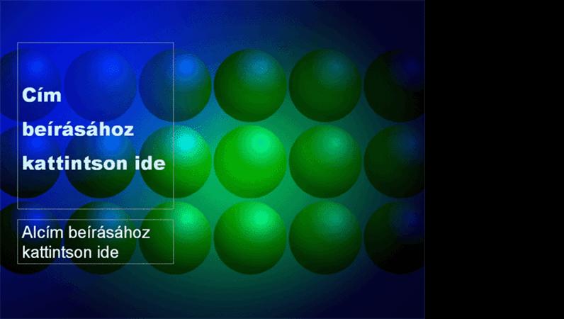 Kék és zöld golyók tervezősablon
