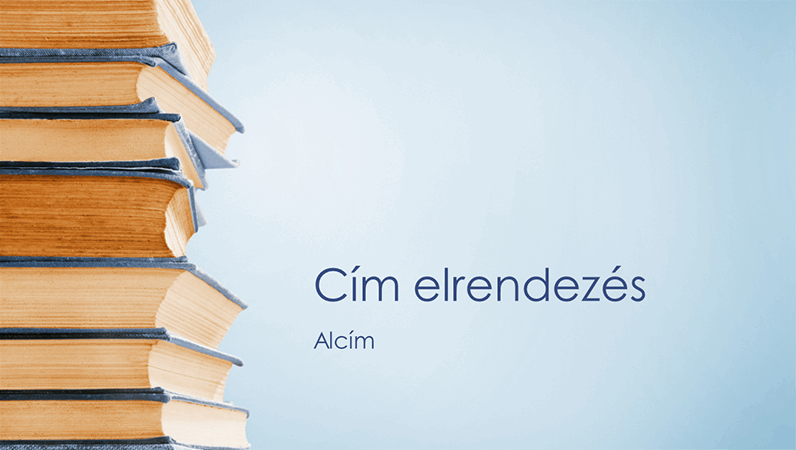 Kék könyvtorony bemutató (szélesvásznú)