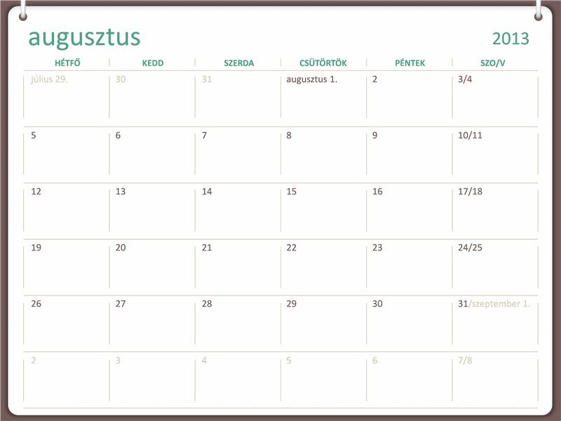 2013-2014-es akadémiai naptár (augusztus)