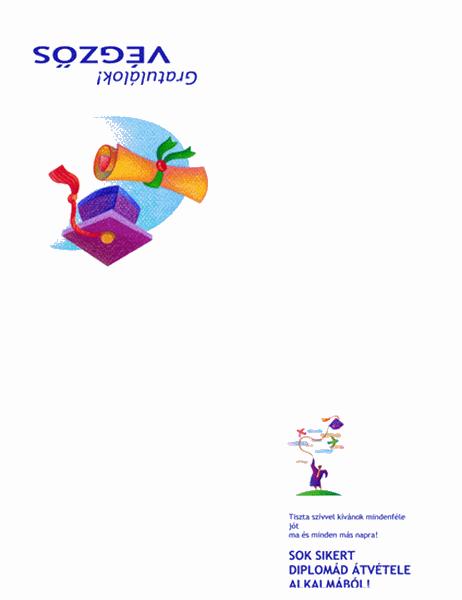 Üdvözlőkártya diplomaosztásra