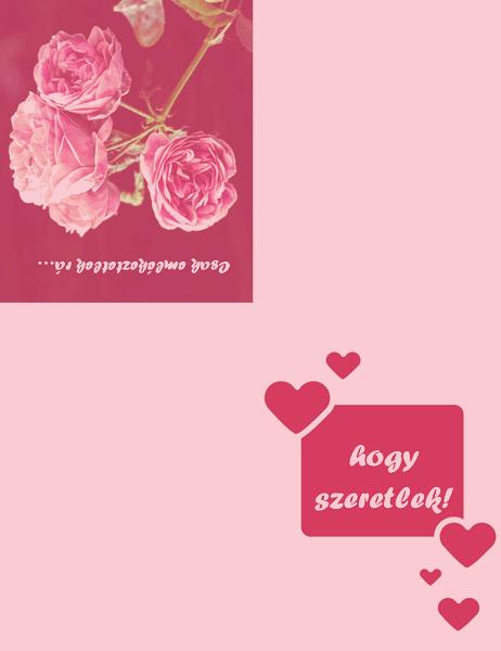 Romantikus kártya (négyrét hajtva)