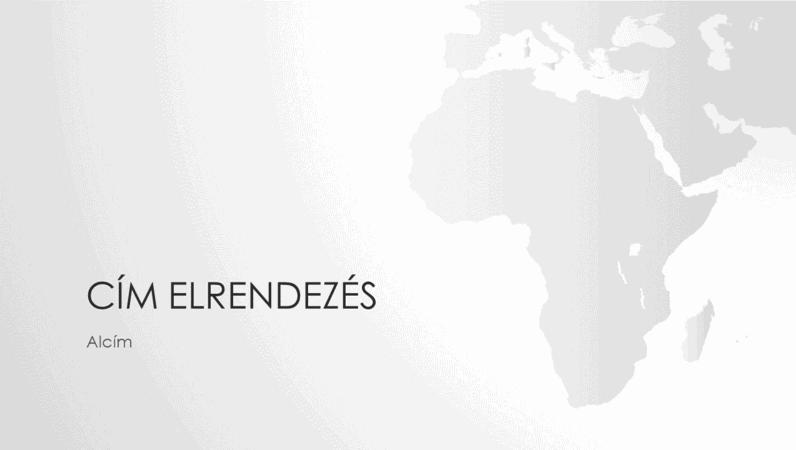 Világtérkép-sorozat, az afrikai kontinenst ábrázoló bemutató (szélesvásznú)