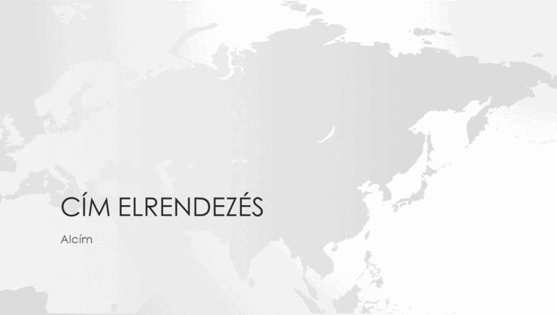 Világtérkép-sorozat, az ázsiai kontinenst ábrázoló bemutató (szélesvásznú)