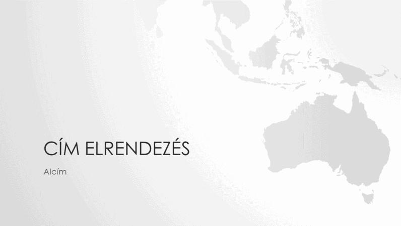 Világtérkép-sorozat, az ausztráliai kontinenst ábrázoló bemutató (szélesvásznú)