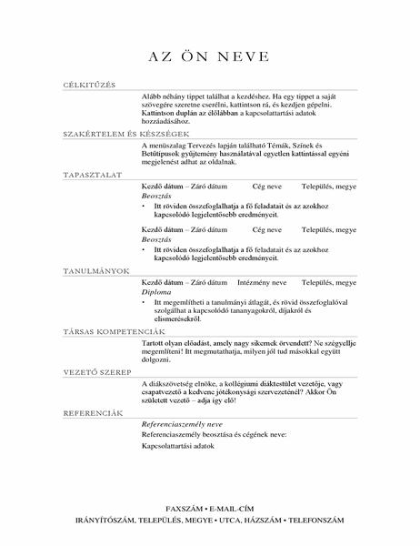 Értékesítési igazgató önéletrajza (elegáns)