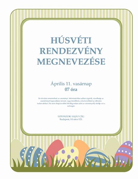 Húsvéti szórólap (tojásokkal)