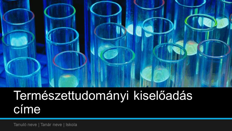 Bemutató iskolai természettudományi kiselőadáshoz (szélesvásznú)