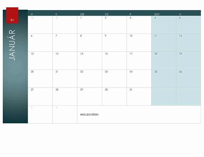 Általános éves naptár (Ion téma)