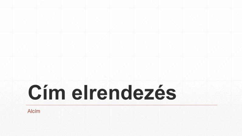 Háromszöghálós üzleti bemutató (szélesvásznú)