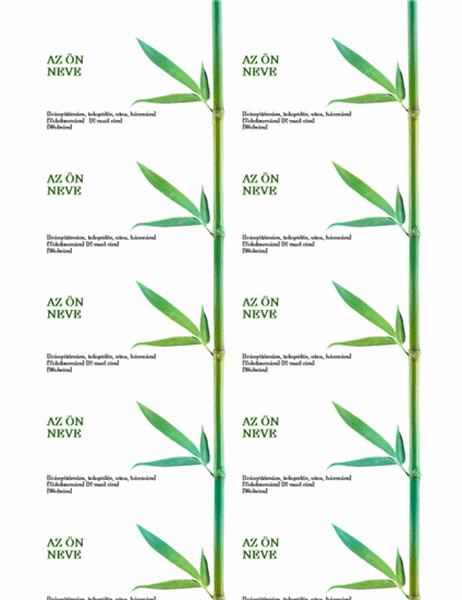 Névjegykártyák (Bambusz)