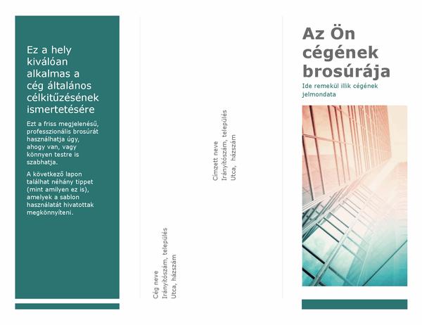 Háromrészes brosúra (kék)