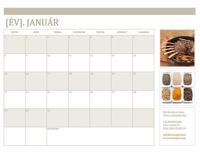 Fényképes naptár (hétfő)
