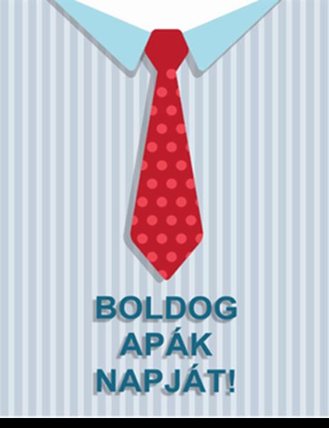 Nyakkendős apák napi képeslap (négybe hajtható)