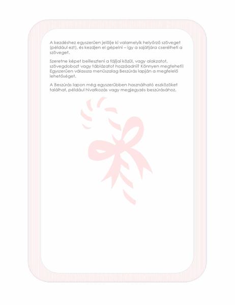 Ünnepi levélpapír (nyalókás vízjellel)