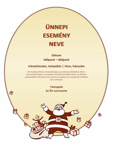 Karácsonyi esemény szórólapja
