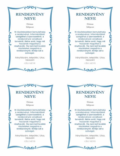 Rendezvényre szóló meghívók (laponként 4)