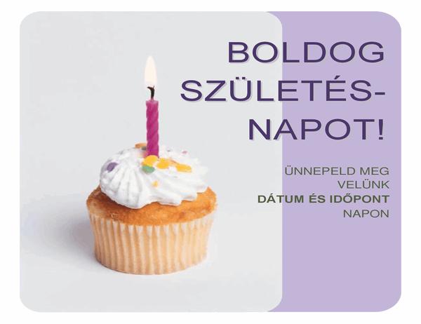 Születésnapi meghívó (minitortával)