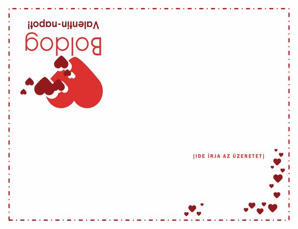 Valentin-napi kártya (négyrét hajtva)