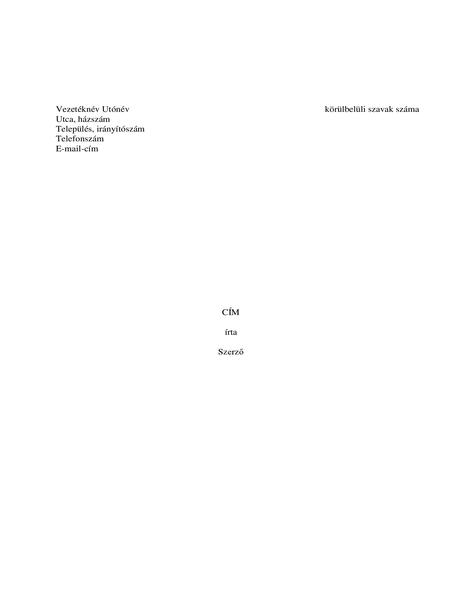 Könyvkézirat