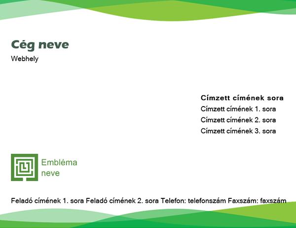 Boríték (Zöld hullám arculat)