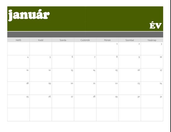 Transzparens-naptár