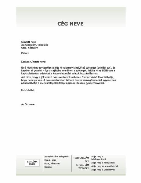 Céges levélpapír fejléce (Egyszerű arculat)