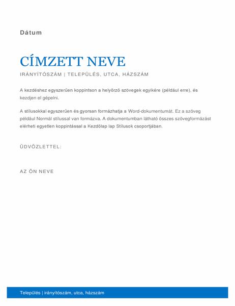 Üzleti levél