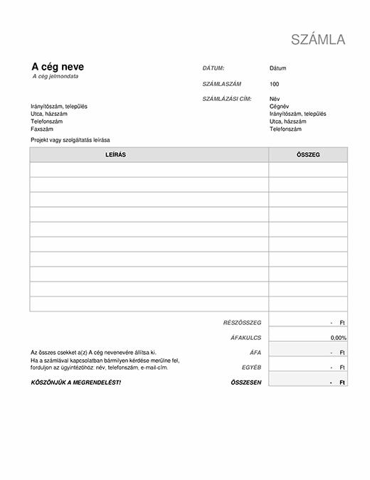 Kereskedelmi számla: UPS - Magyarország
