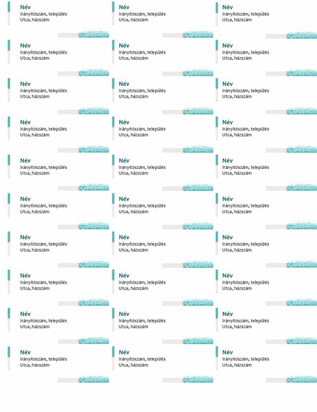 Minimalista technológia címcímkék (laponként 30)