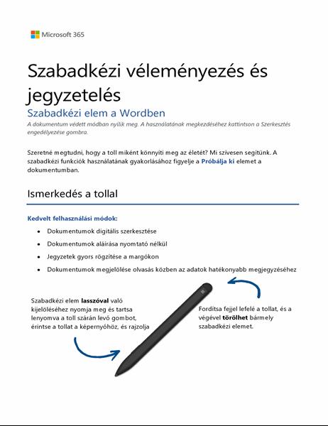 Word Surface-toll oktatóanyag