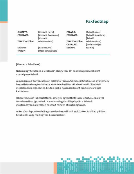 Minimalista technológia faxfedőlap