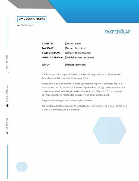 Hatszögletű faxfedőlap