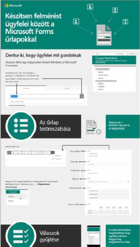 Készítsen felmérést ügyfelei között a Microsoft Forms űrlapokkal