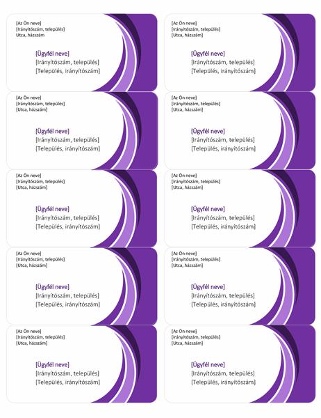 Lila szállítási címkék (oldalanként 10)