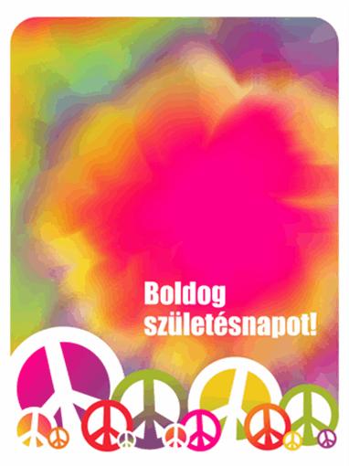 Születésnapi képeslap (batikolt)