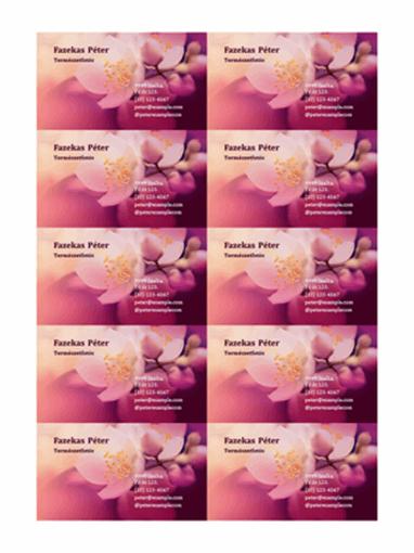 Névjegykártyák (virágos fényképpel)