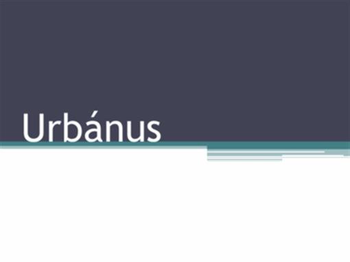 Urbánus