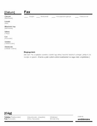 Vállalati faxfedőlap