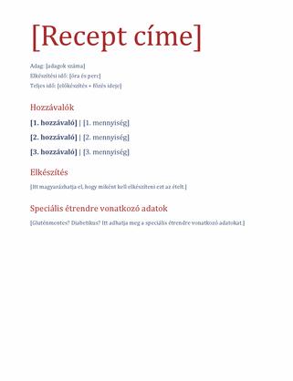 Egyszerű receptnapló