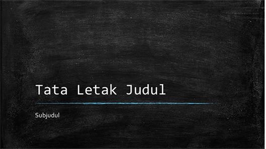 Presentasi pendidikan papan tulis (layar lebar)